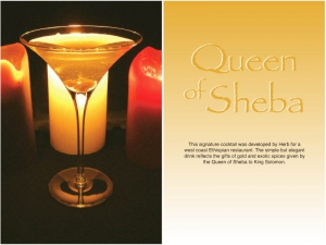 Queen of Sheba Cocktail
